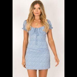 Sundae Muse Bianca dress blue size 6 us xs/s NWT